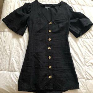 TOPSHOP button up mini dress